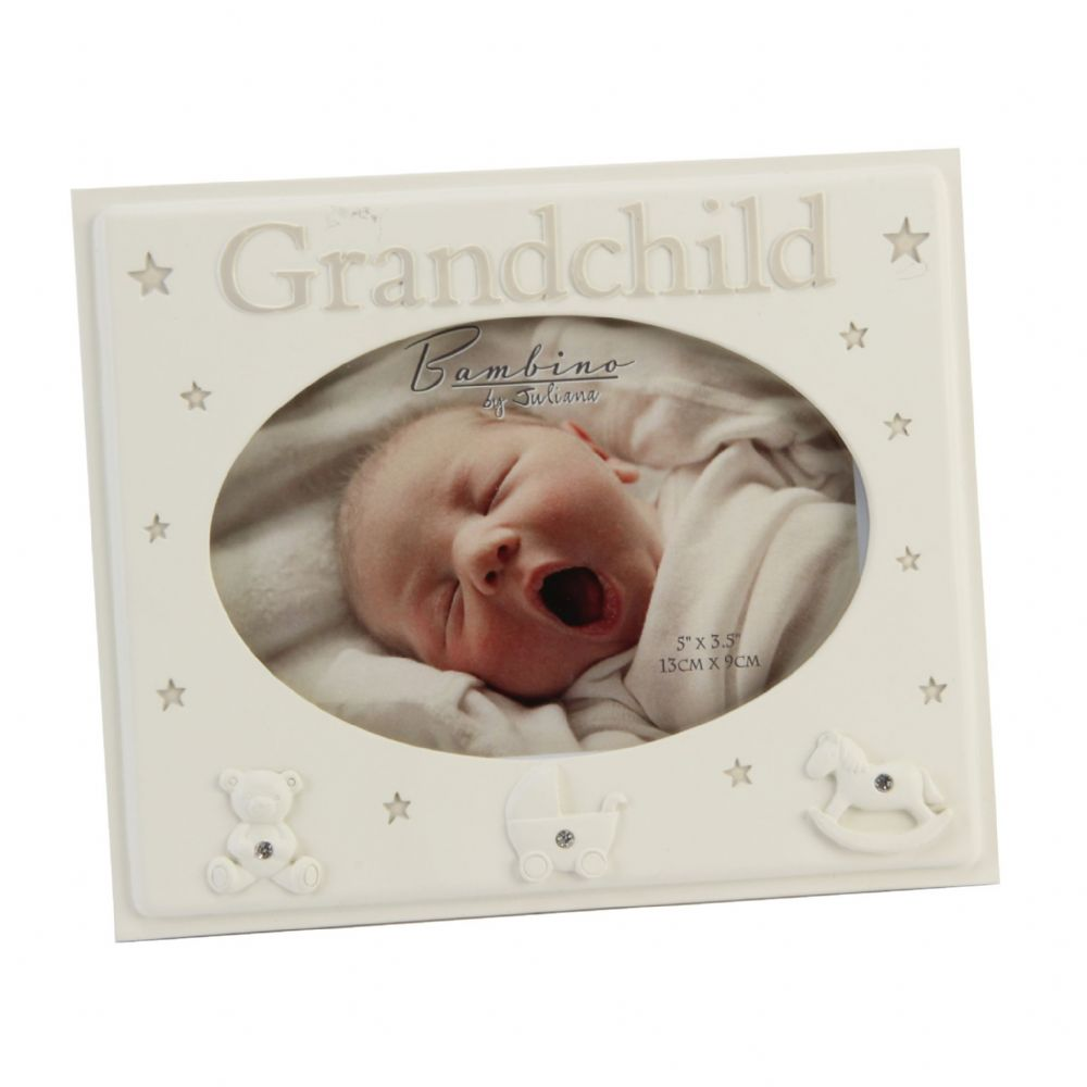 Bambino Baby Photo Frame For 'Grandchild' Gift for Grandparent, Nana and Grandad Unisex
